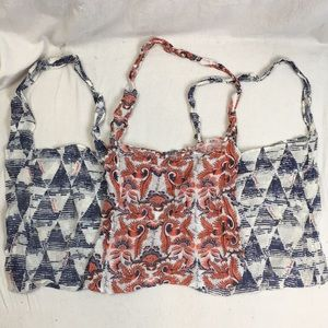 Free People Farmers Market Reusable Bags Lot of 3